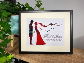 Personalised Wedding Couple Frame