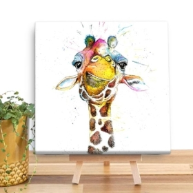 Giraffe Wooden Canvas