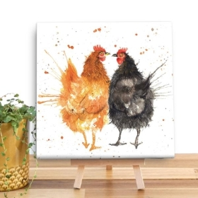 Hens Wooden Canvas